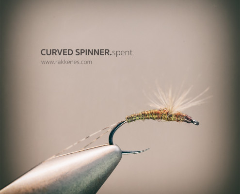 Curved spent spinner